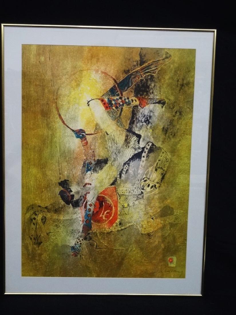 "Lebadang Hoi (1922 - 2015) Signed Lithograph ""Circus"