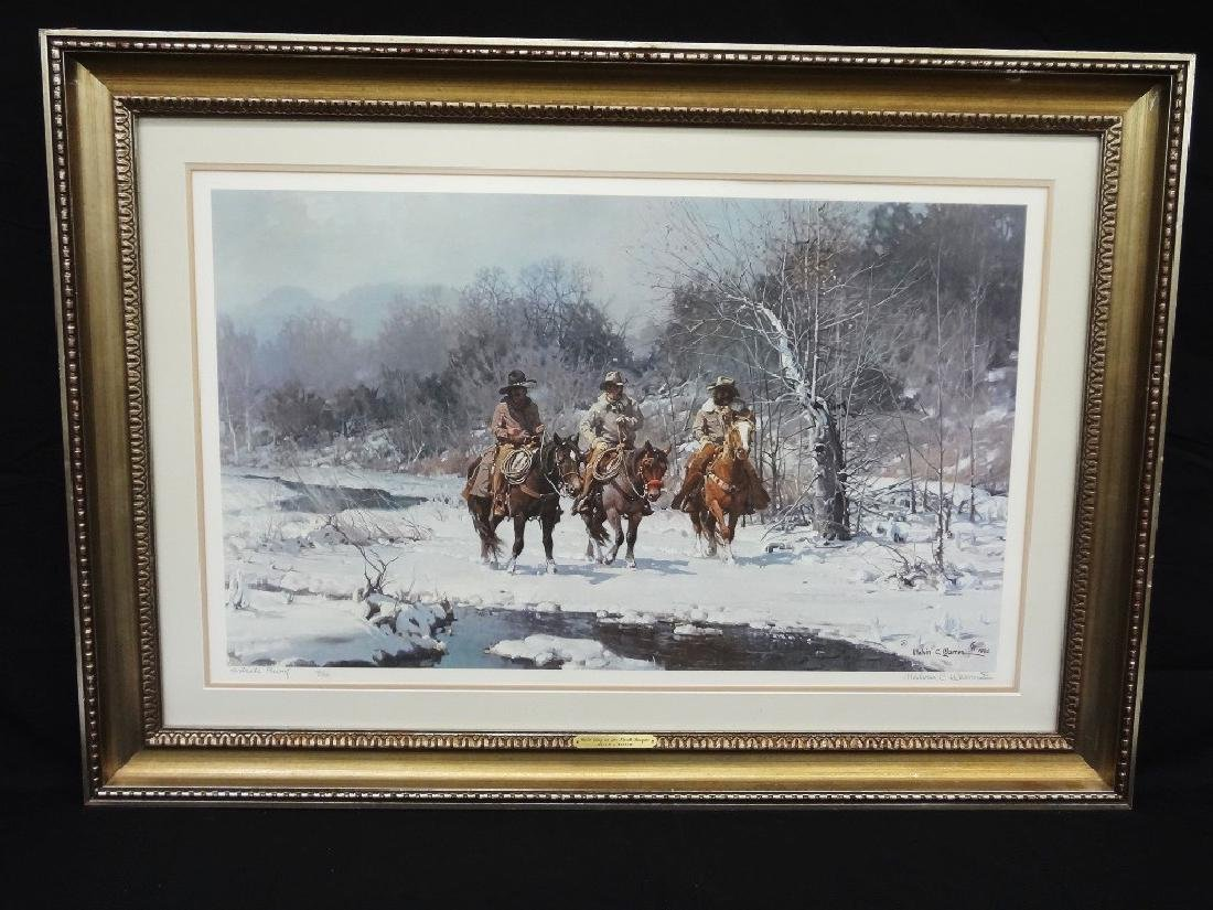 """Melvin Warren Artist Proof """"Cold Day in the North"""