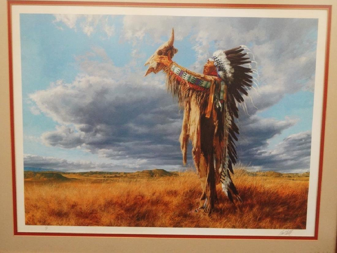 "Paul Calle Signed Lithograph ""Prayer to the Great"