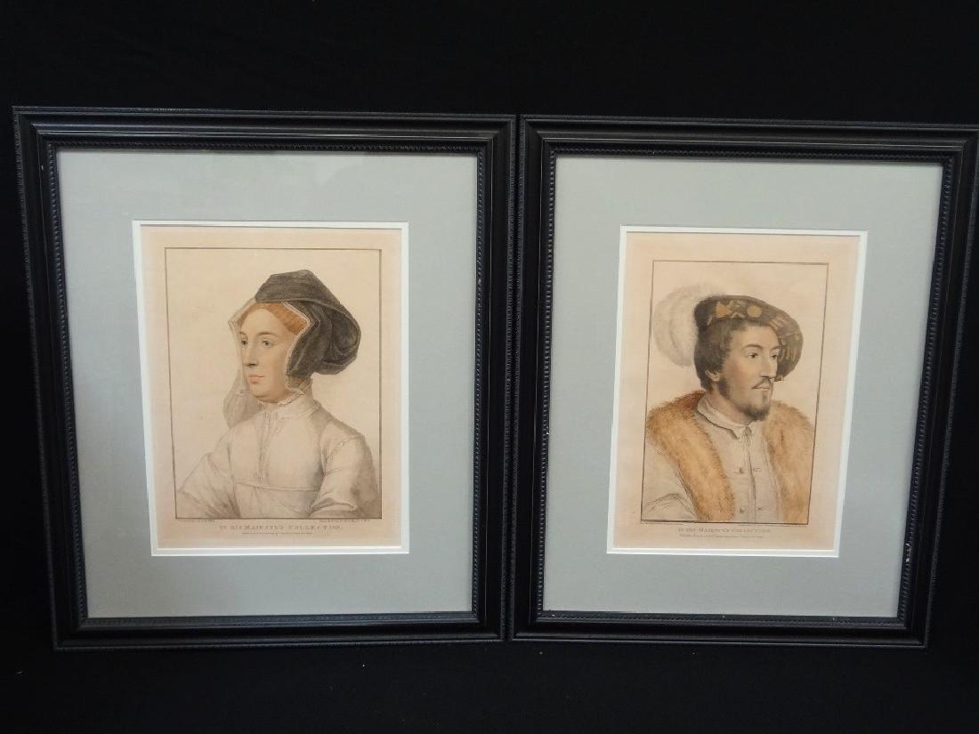 Francesco Bartolozzi Pair Engravings King Henry VIII,