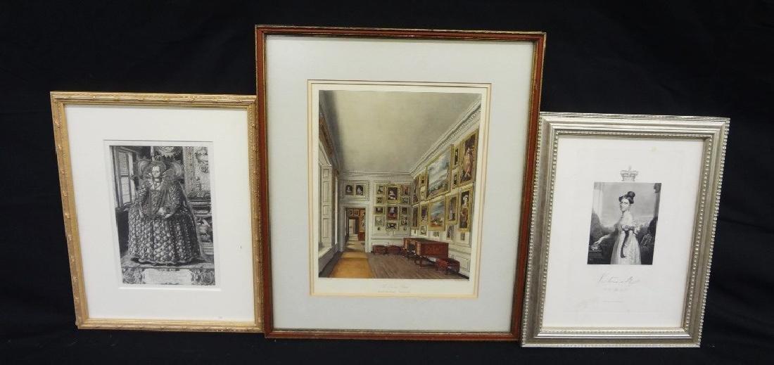 (3) Engravings Queen Elizabeth I  Rogers, Queen