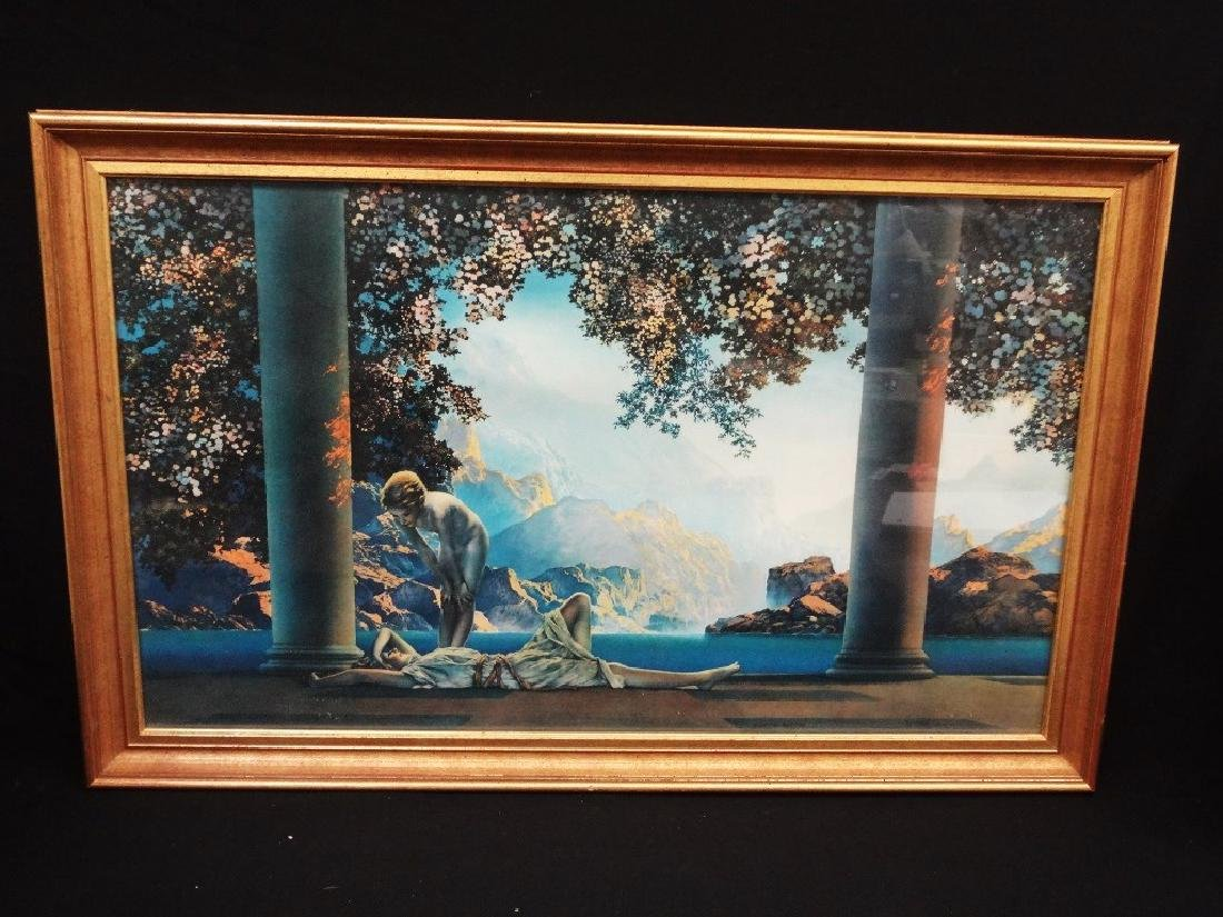 "Maxfield Parrish Lithograph Framed ""Daybreak"""