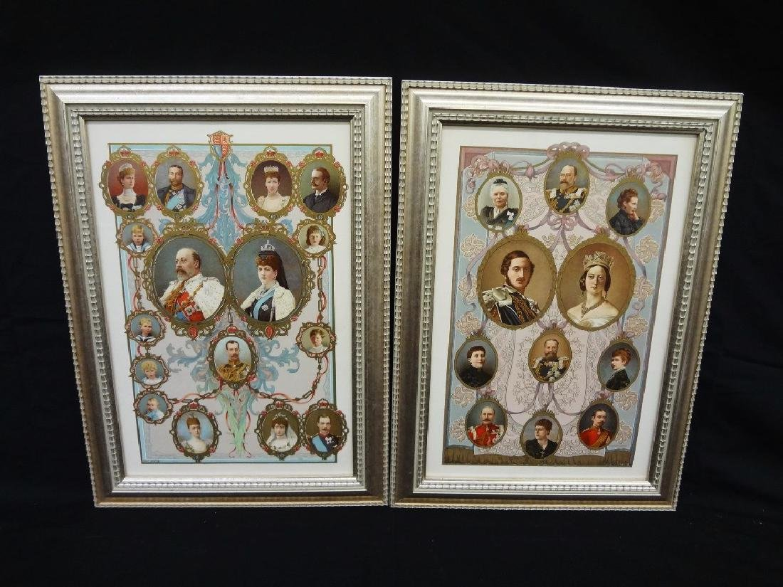 Family Trees English Royalty Lithographs Wm. Downey