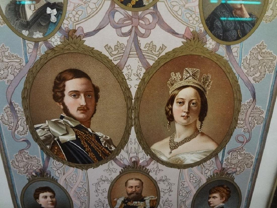 Family Trees English Royalty Lithographs Wm. Downey - 2
