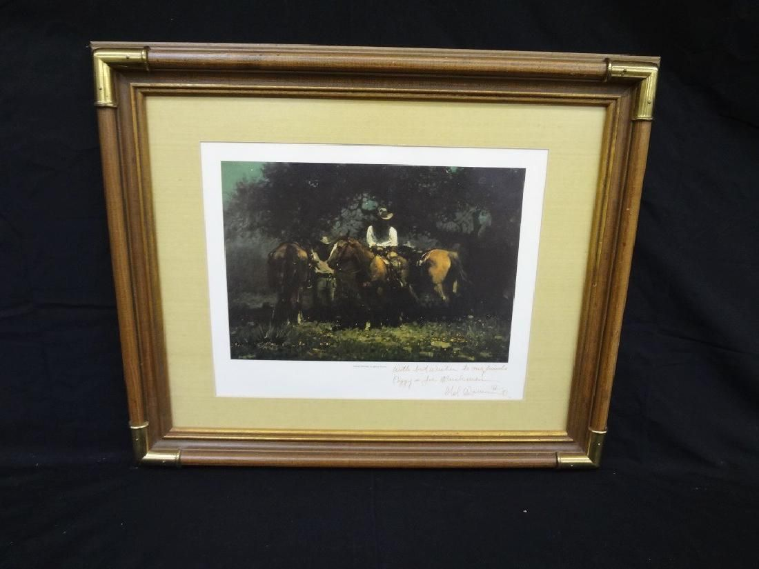 """Melvin Warren Signed Lithograph Personalized """"Night"""