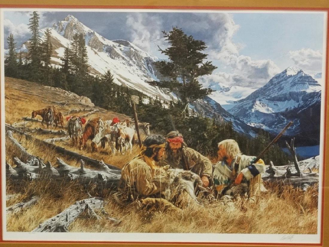 """Paul Calle Signed Lithograph """"When Trails Cross"""" 78/950"""