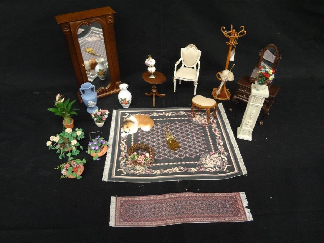Collection of Miniature Doll House Furniture