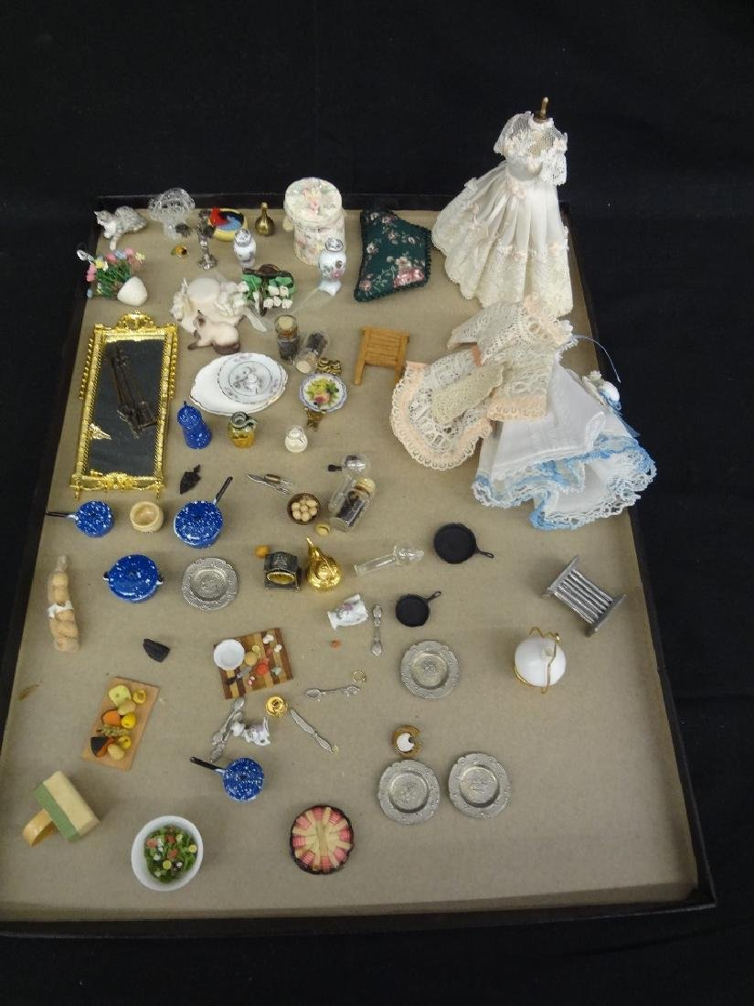 Collection of Small Miniature Doll House Accessories