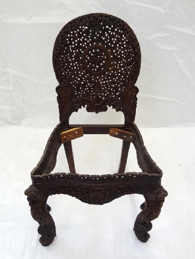 Carved Southeast Asian Side Chair