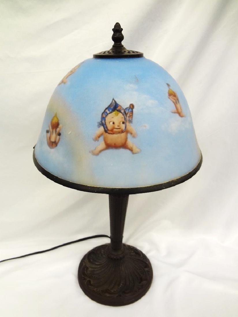 Florence & George Kewpie Lamp on Bronzed Base