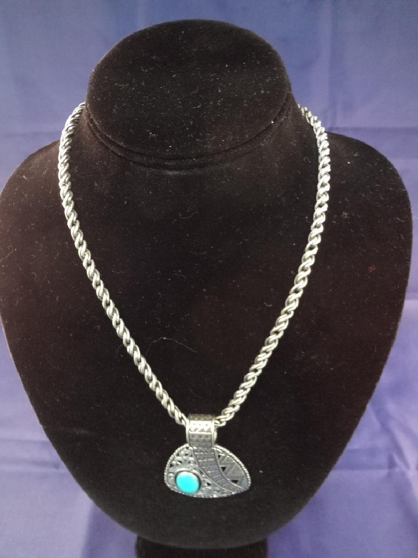 Carolyn Pollack Solid Sterling Silver Necklace, and