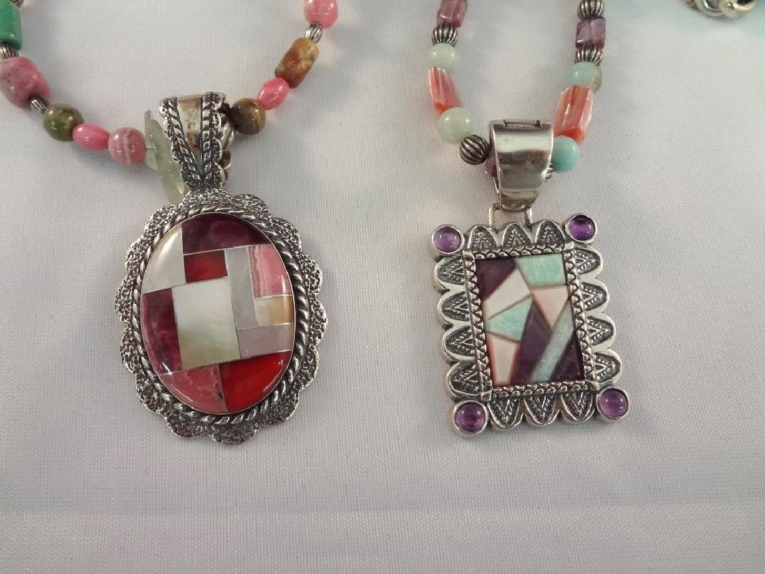 Carolyn Pollack Sterling Silver (2) Pendants and - 2
