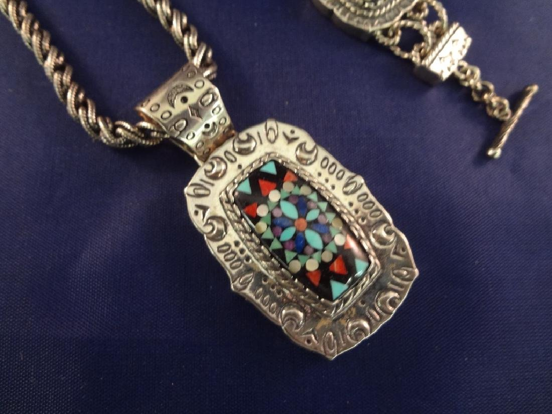 Carolyn Pollack Sterling Multi Color Stone Inlay - 2