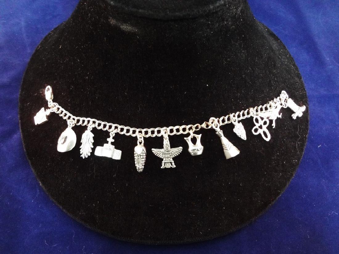 Carolyn Pollack Sterling Silver Charm Bracelet .92 troy