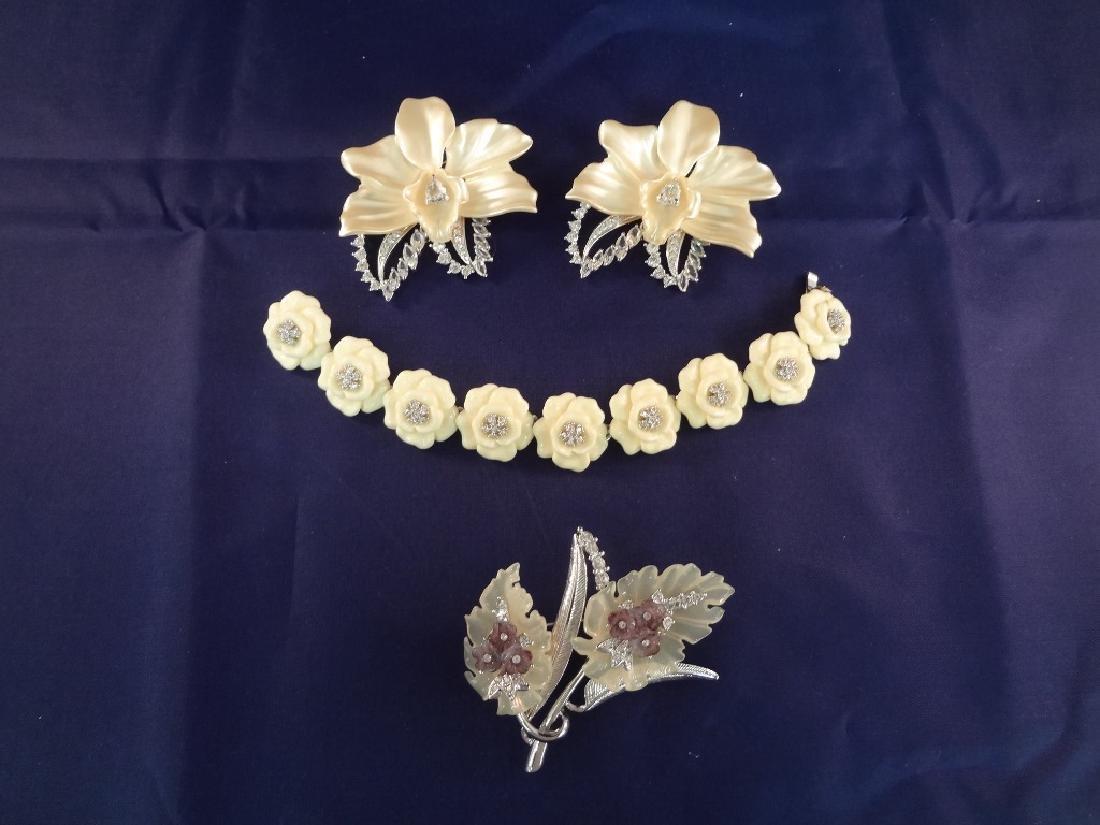 Nolan Miller Vintage Jewelry: Bracelet, (3) Brooches