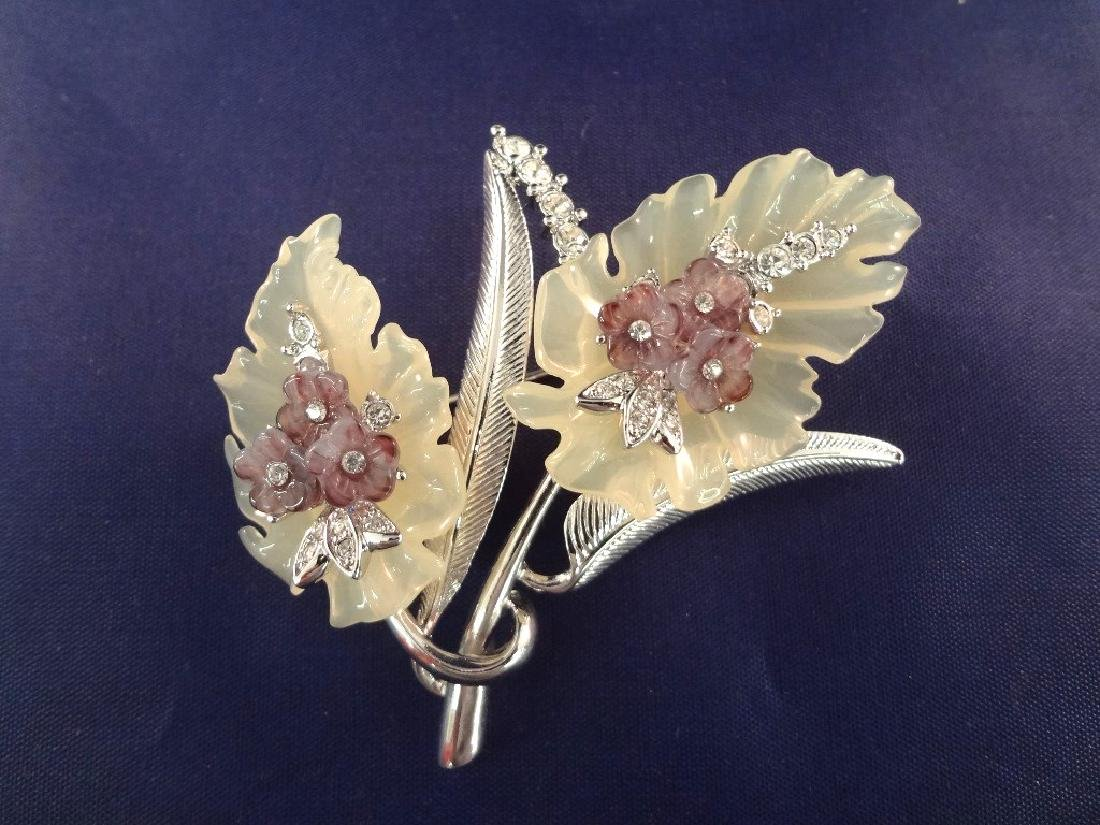 Nolan Miller Vintage Jewelry: Bracelet, (3) Brooches - 2