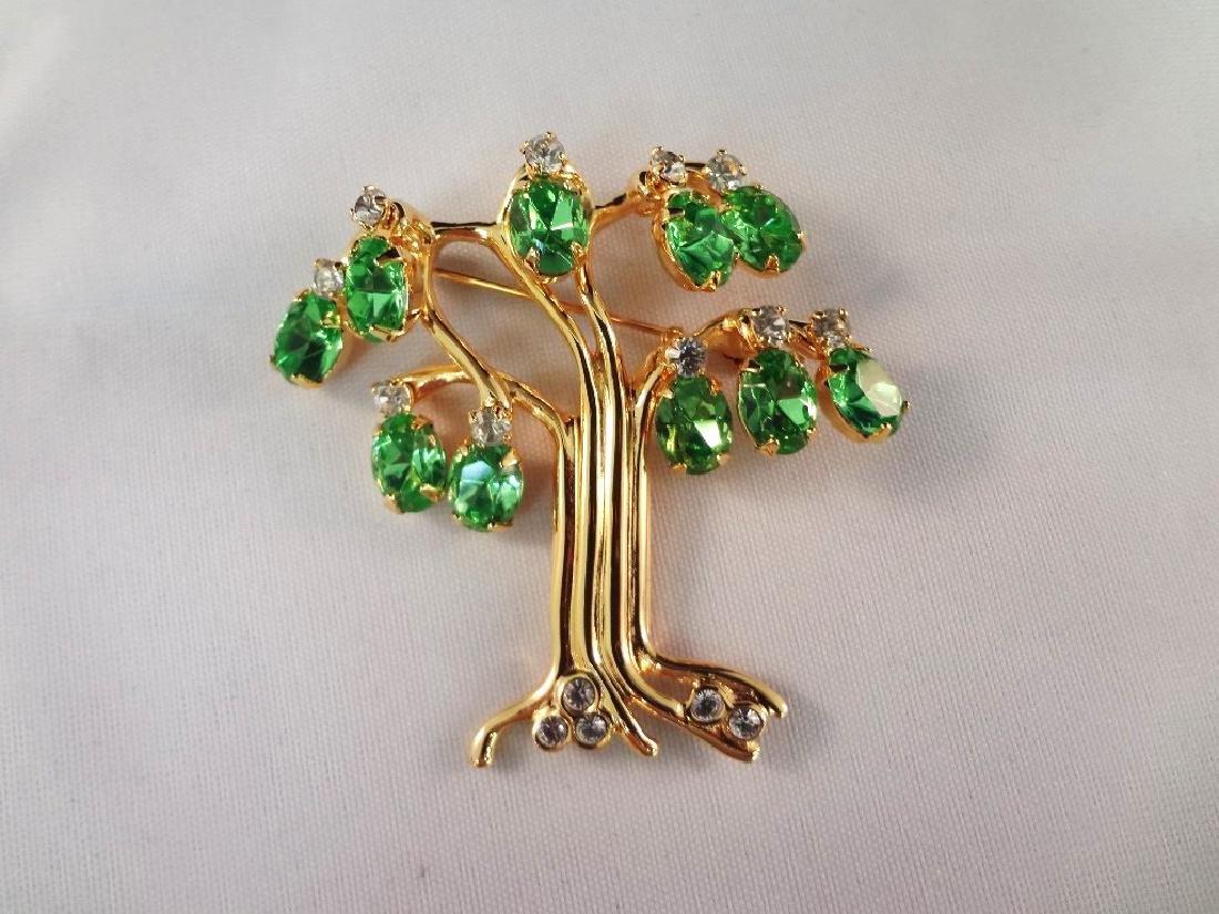 Kenneth Jay Lane Enamel and Rhinestone Jewelry Brooch, - 4