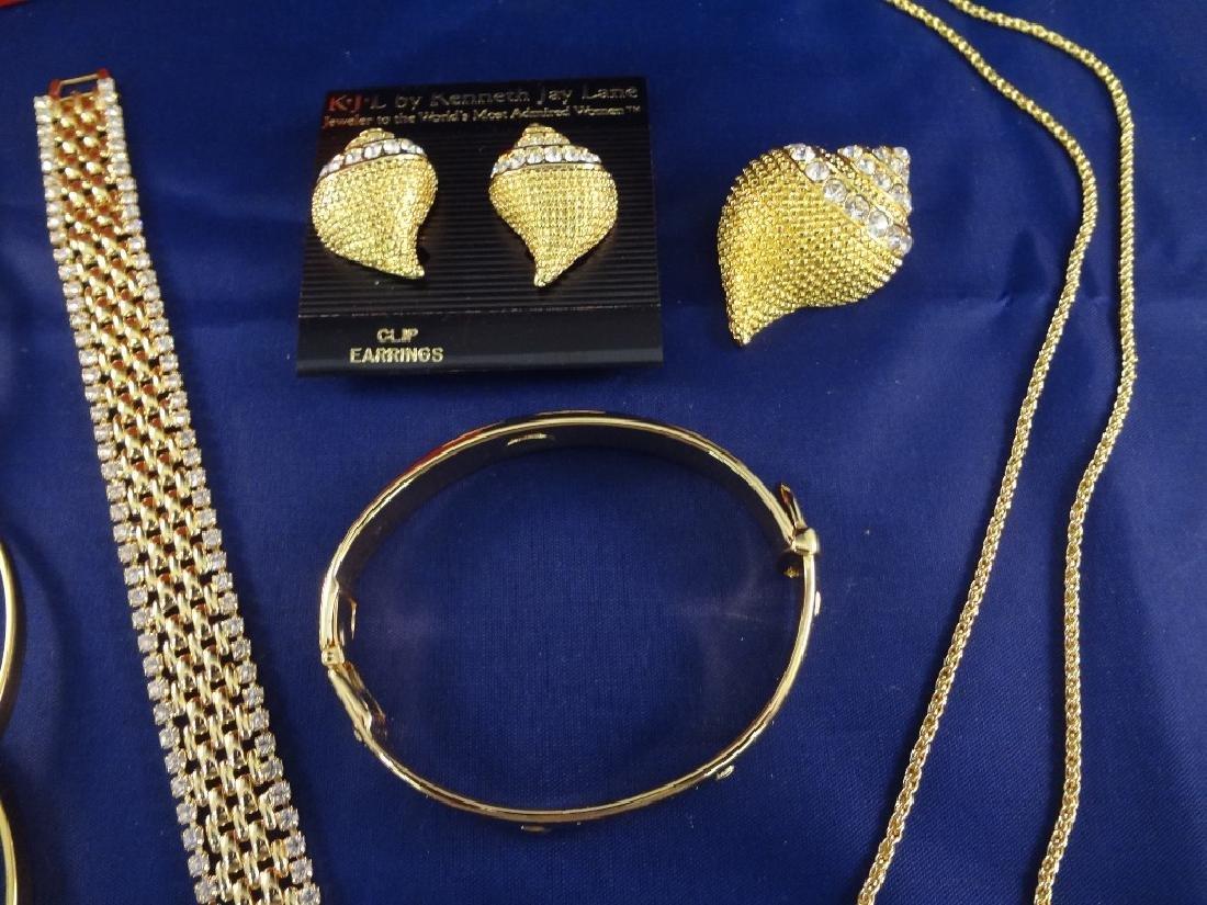 Kenneth Jay Lane Jewelry Group: Earrings, brooch,