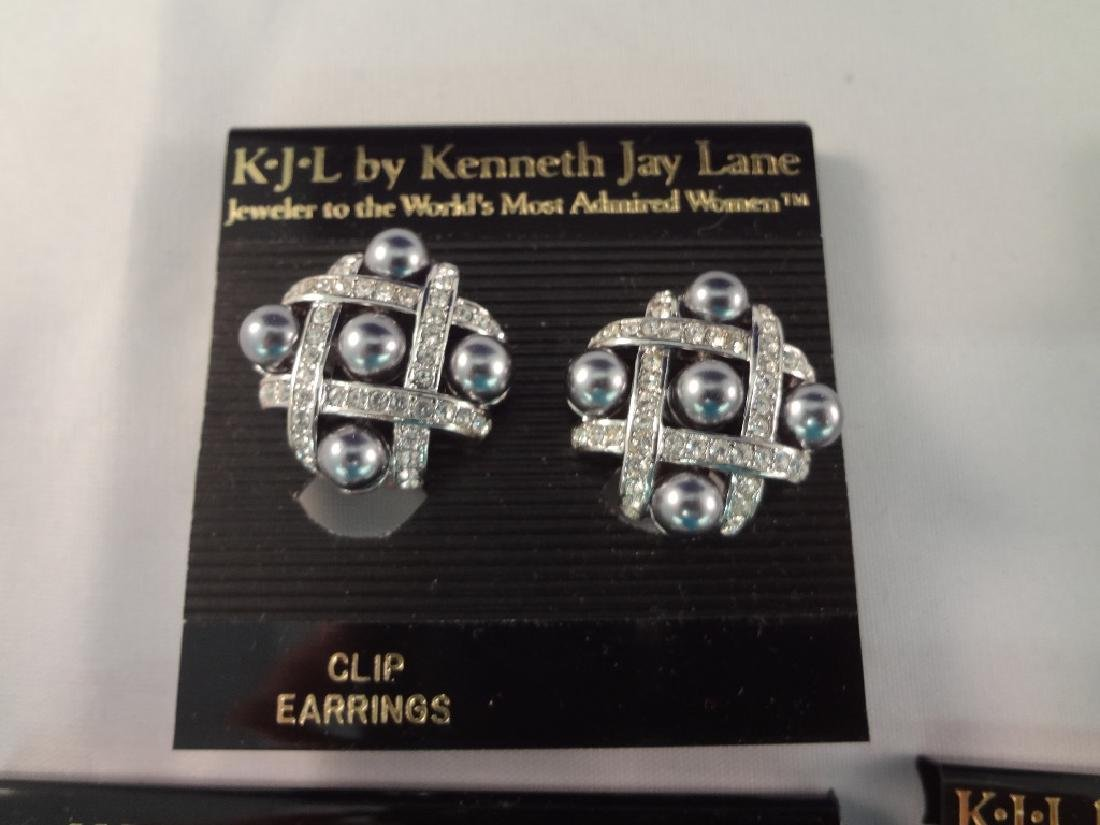 (8) Kenneth Jay Lane Clip On Earrings New Tags - 2