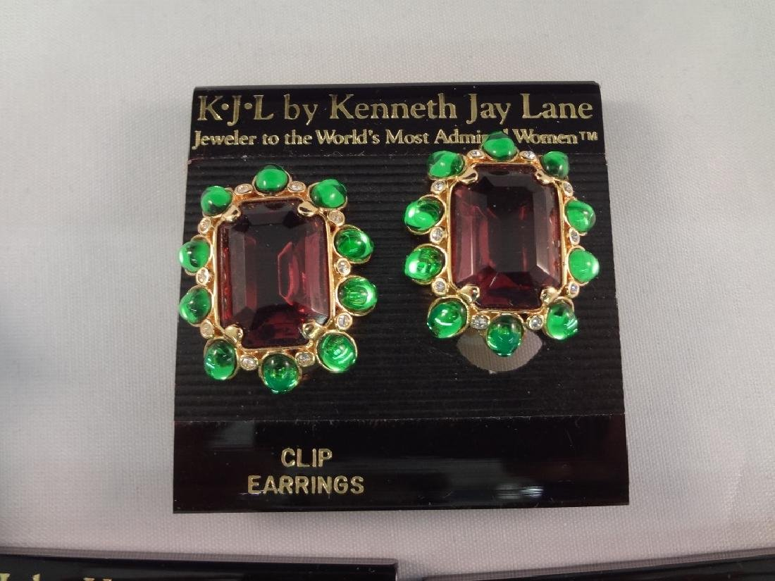 (8) Kenneth Jay Lane Clip On Earrings New Tags - 3