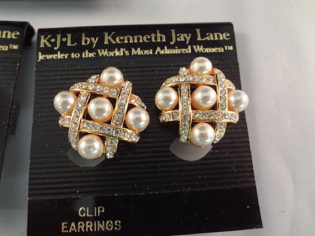 (8) Kenneth Jay Lane Clip On Earrings New Tags - 4