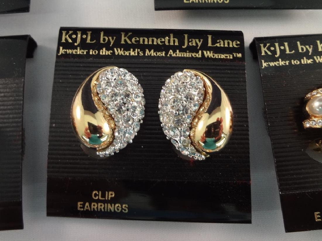 (8) Kenneth Jay Lane Clip On Earrings New Tags - 5