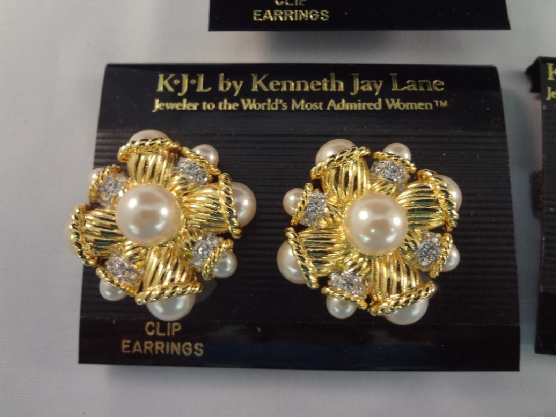 (8) Kenneth Jay Lane Clip On Earrings New Tags - 6
