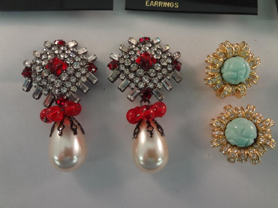 (8) Kenneth Jay Lane Clip On Earrings New Tags - 7