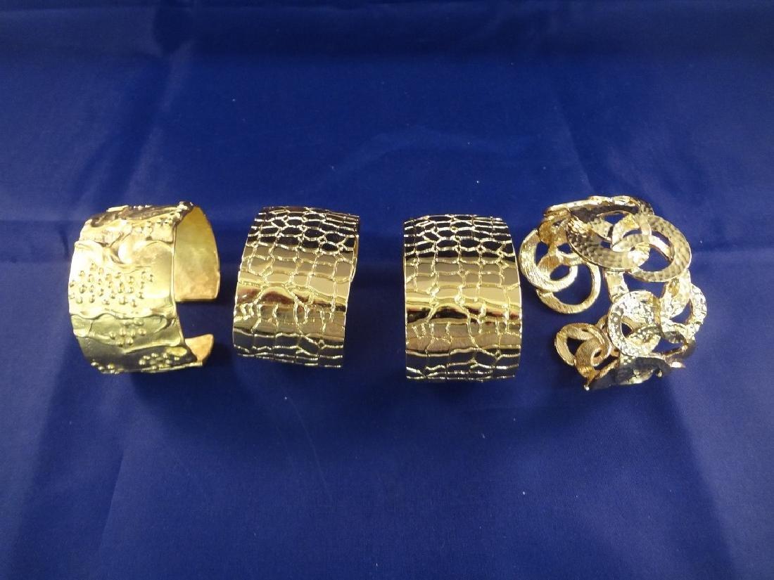 Kenneth Jay Lane Cuff Bracelets Gold Toned