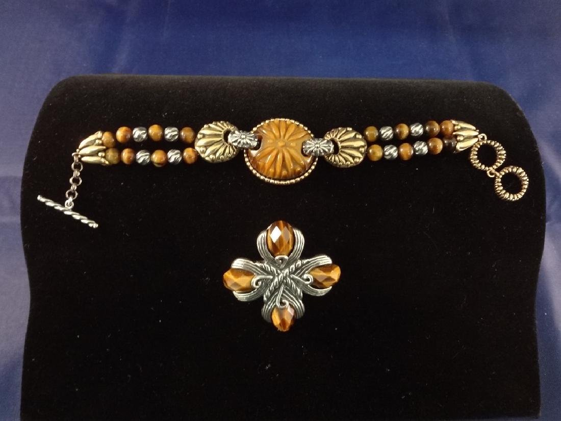 Carolyn Pollack Matching Bracelet and Pendant/Brooch