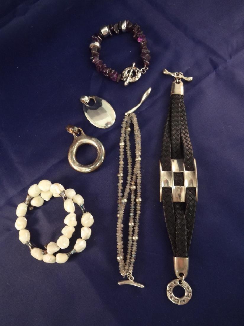 Robert Lee Morris Sterling Silver Jewelry Group