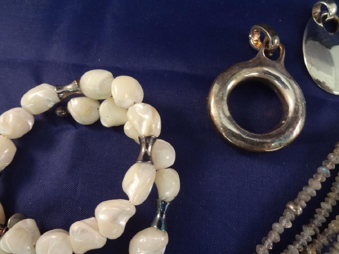 Robert Lee Morris Sterling Silver Jewelry Group - 3