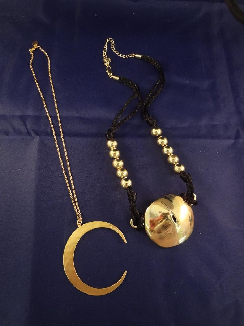 Robert Lee Morris Brass Jewelry: (2) Necklaces