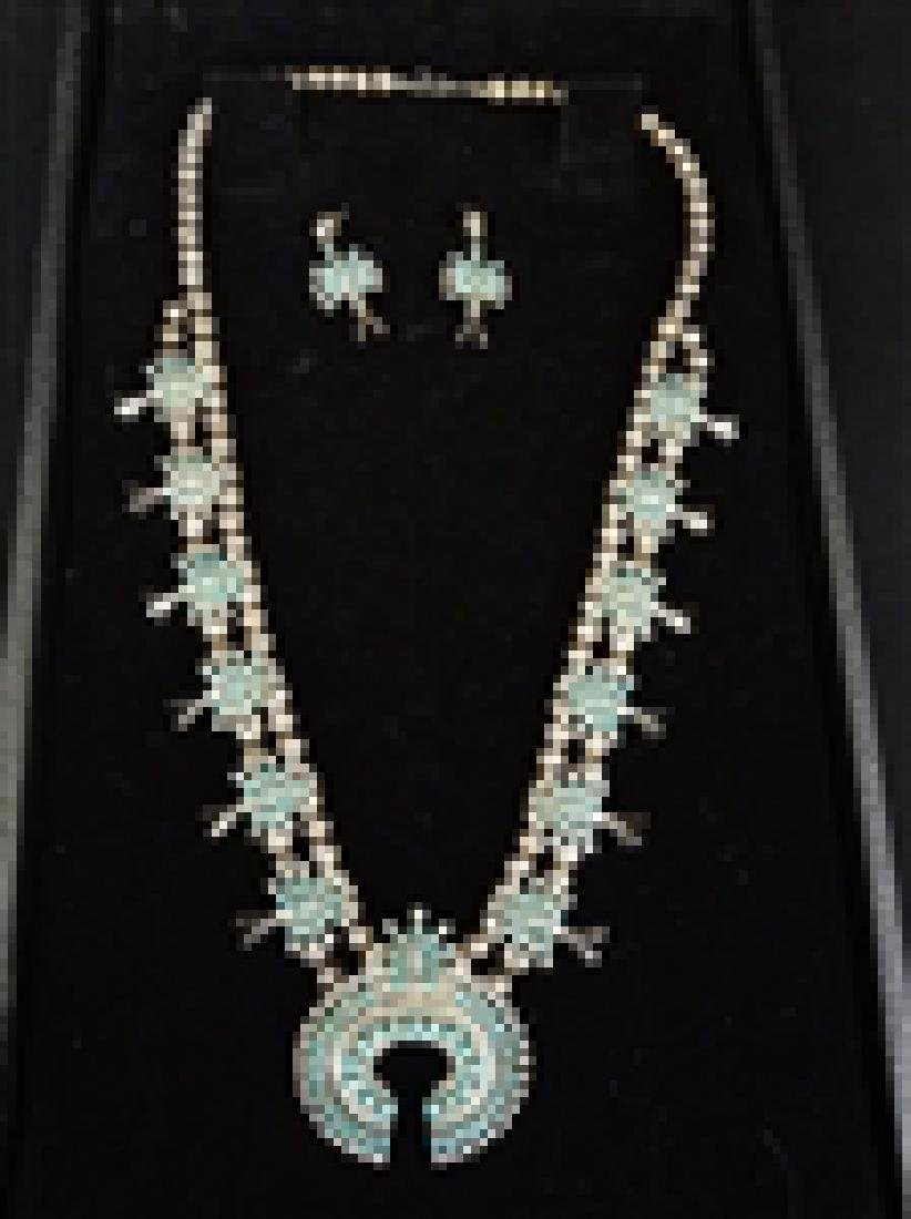 Norman and Virginia Hoee Sterling Zuni Necklace and