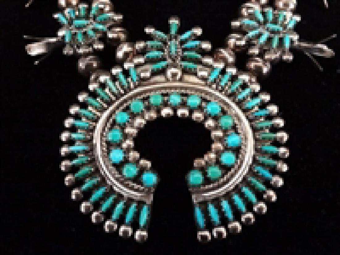 Norman and Virginia Hoee Sterling Zuni Necklace and - 2
