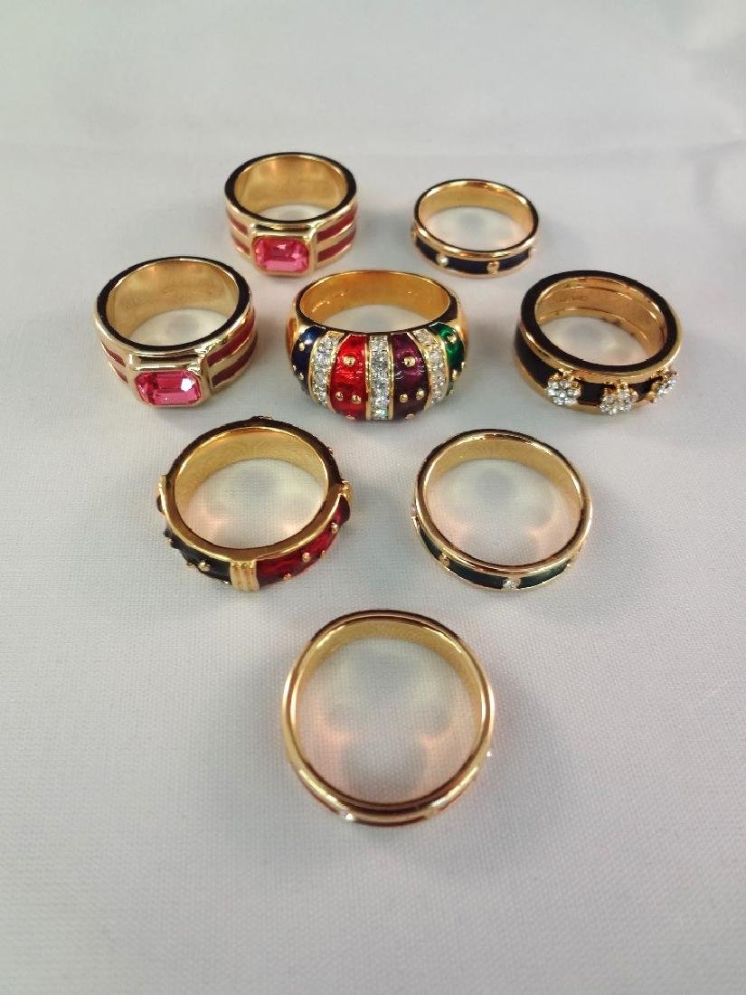 Joan Rivers (8) Cocktail Rings Enameled and With