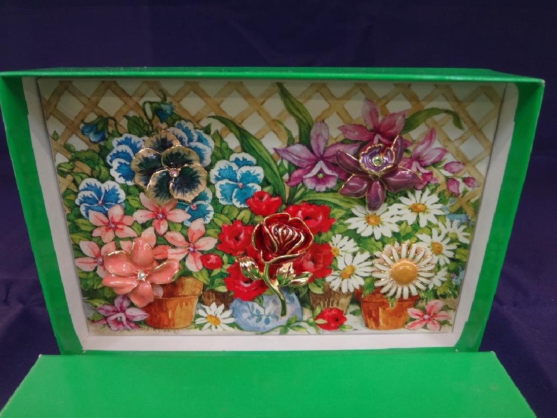 Joan Rivers Interchangeable Enamel Flower Brooch in