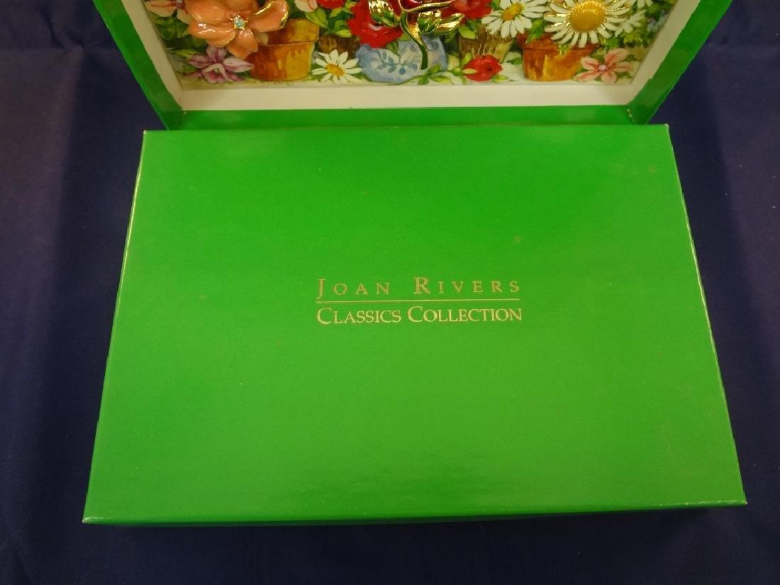 Joan Rivers Interchangeable Enamel Flower Brooch in - 2