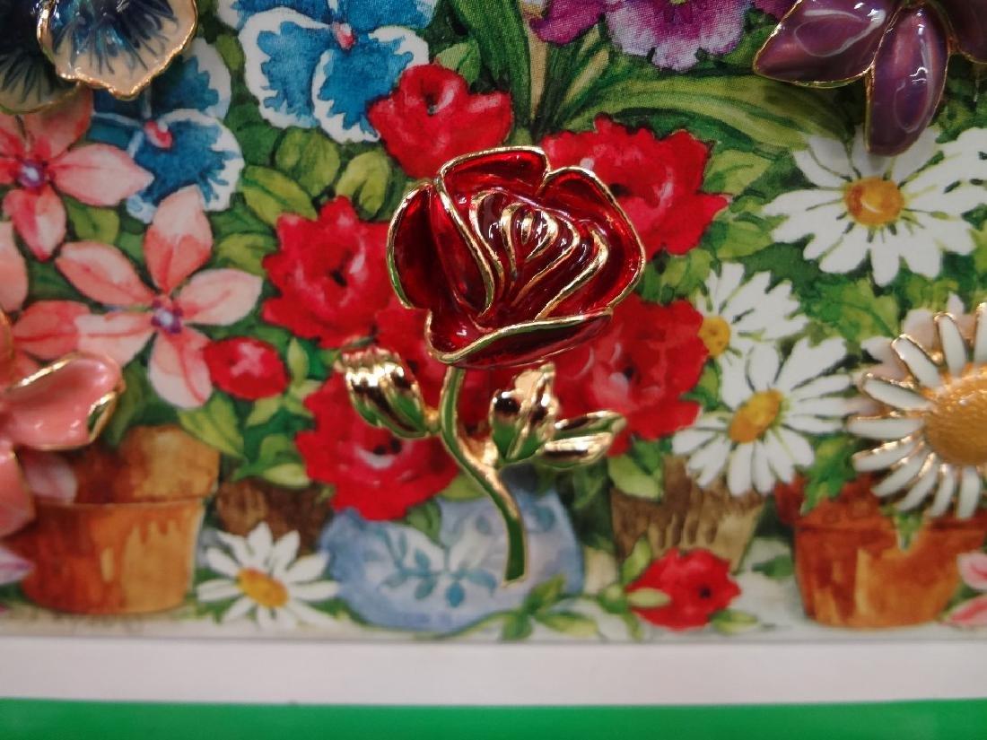 Joan Rivers Interchangeable Enamel Flower Brooch in - 3