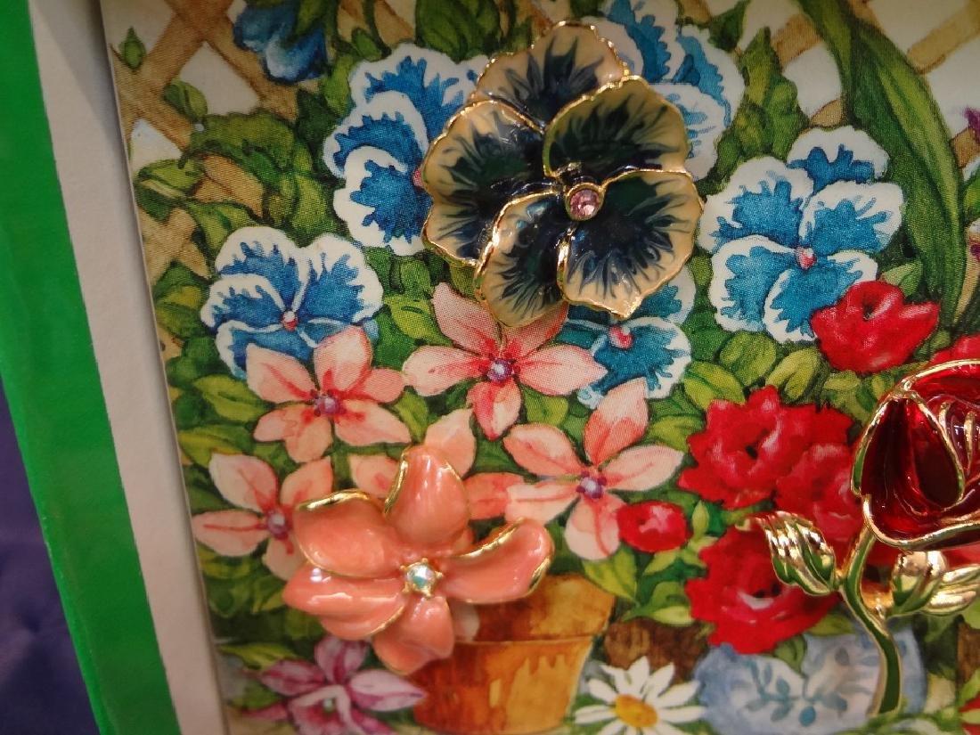 Joan Rivers Interchangeable Enamel Flower Brooch in - 4