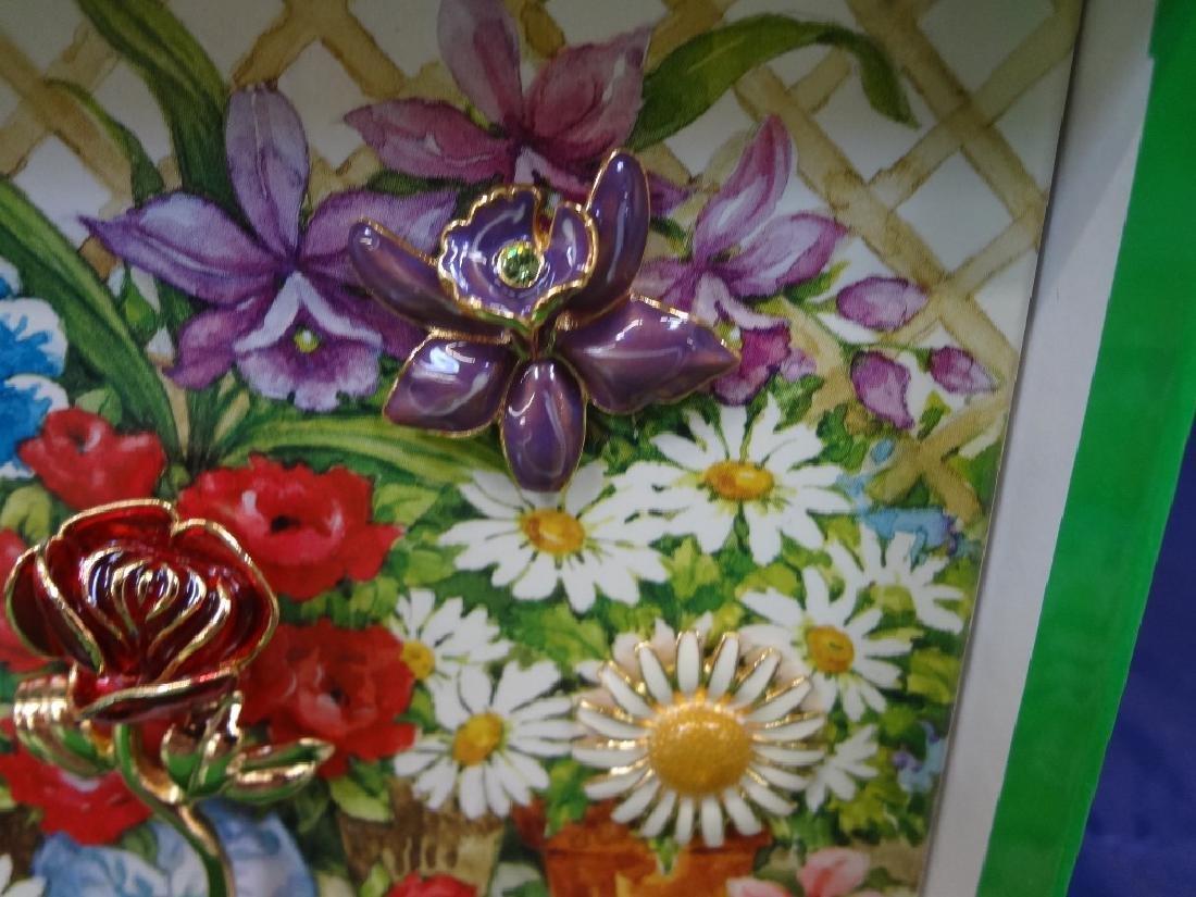 Joan Rivers Interchangeable Enamel Flower Brooch in - 5