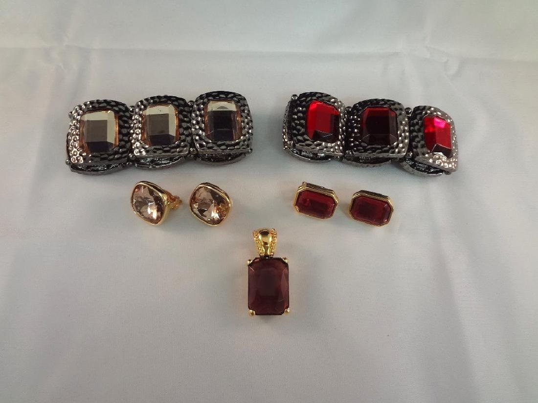 Joan Rivers Bracelets, Earrings and Pendant