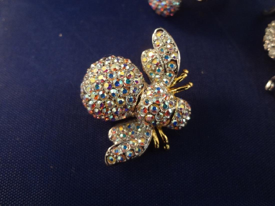 Joan Rivers Bee Brooches75 and Matching Ring - 2