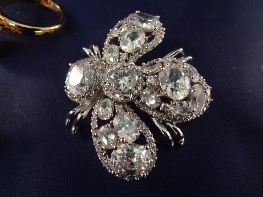 Joan Rivers Bee Brooches75 and Matching Ring - 3