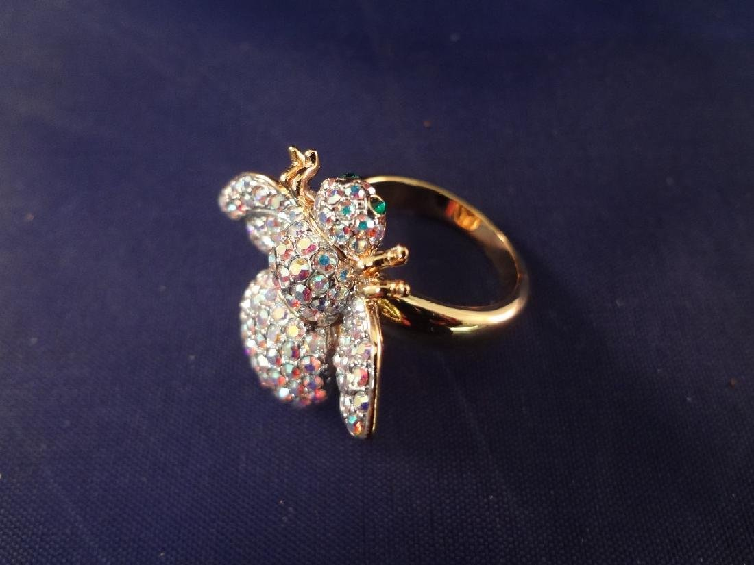 Joan Rivers Bee Brooches75 and Matching Ring - 4