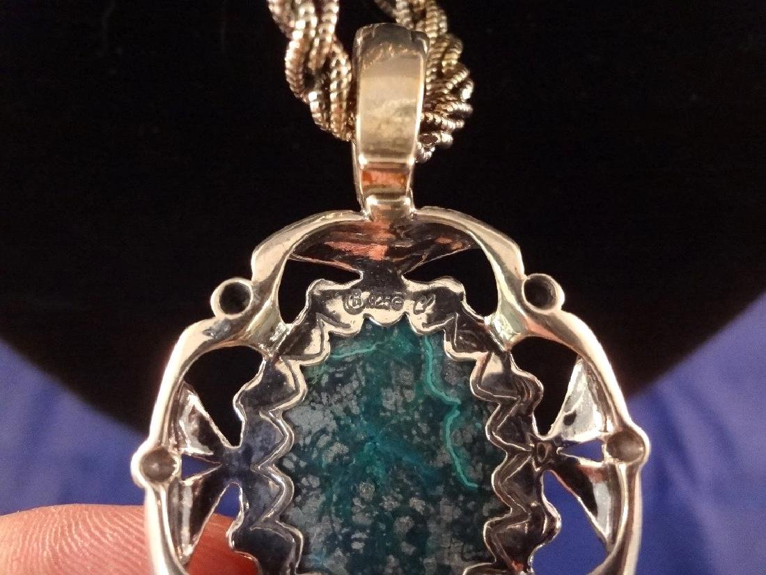 Carolyn Pollack Sterling Silver and Malachite Necklace, - 6