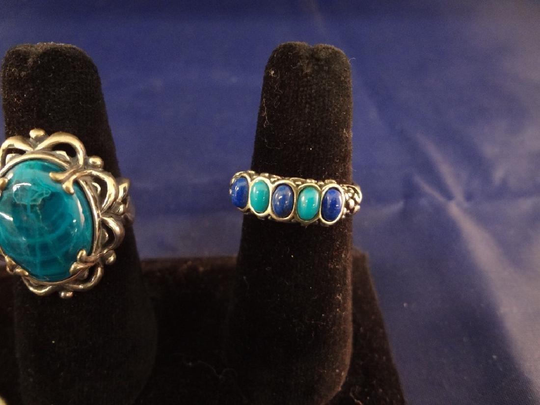 Carolyn Pollack (7) Sterling Silver Rings - 6