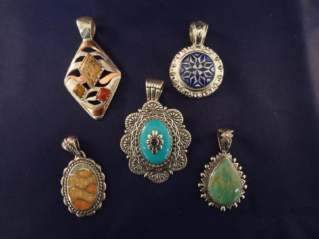 Carolyn Pollack Sterling Silver (5) Pendants: 4