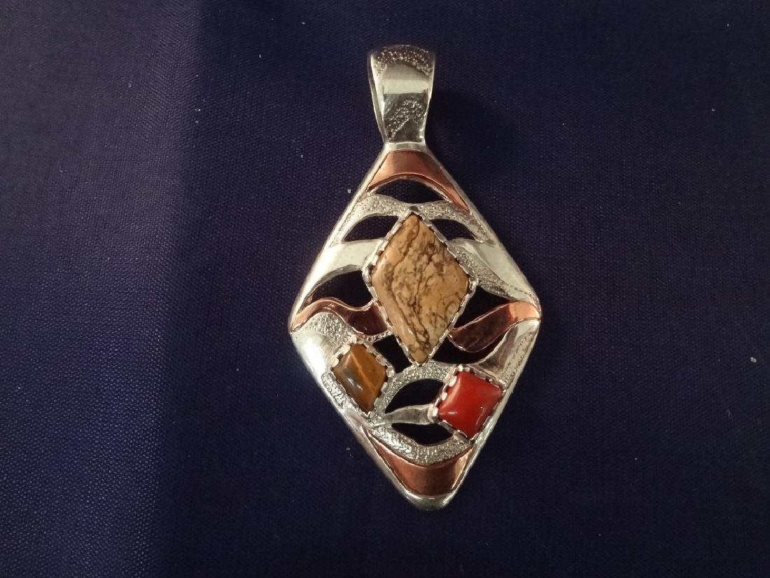Carolyn Pollack Sterling Silver (5) Pendants: 4 - 4