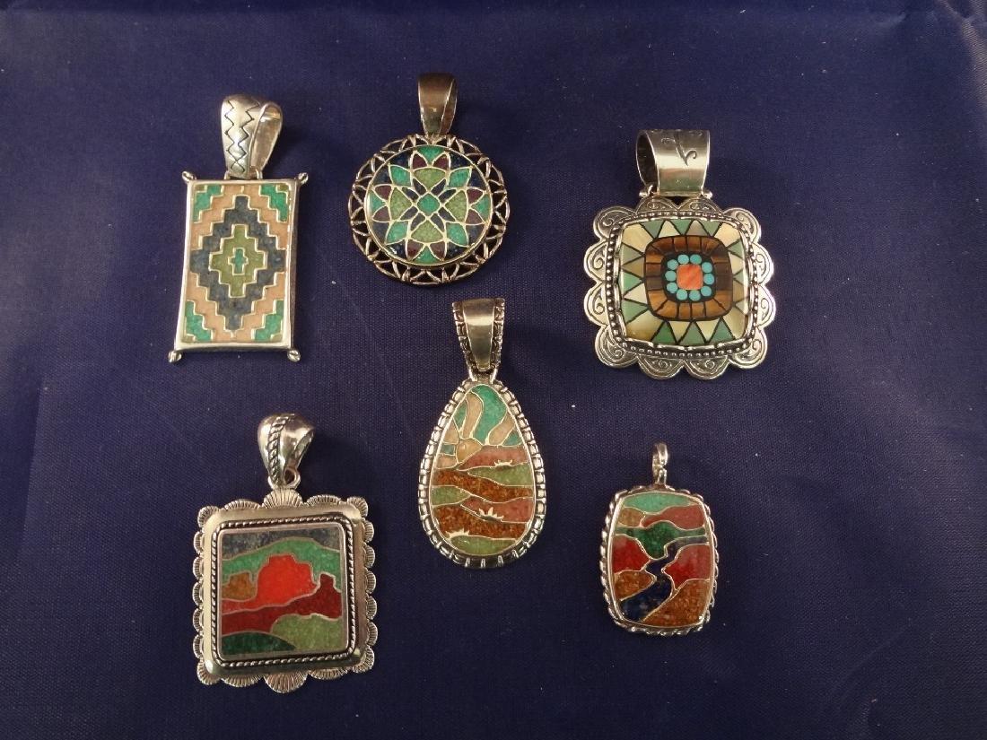 Carolyn Pollack Sterling Silver (6) Multi Stone Inlay